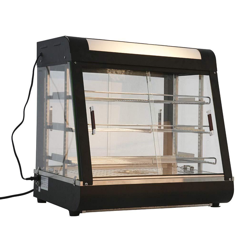 KEANTY 27'' Commercial Food Pizza Warmer Heat Food Countertop Display Case Warmer Cabinet Empanda Pastry Patty 25.4'' X 27'' X 19.3'' by KEANTY