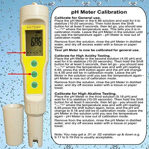 digital aid waterproof ph meter  u0026 temperature meter