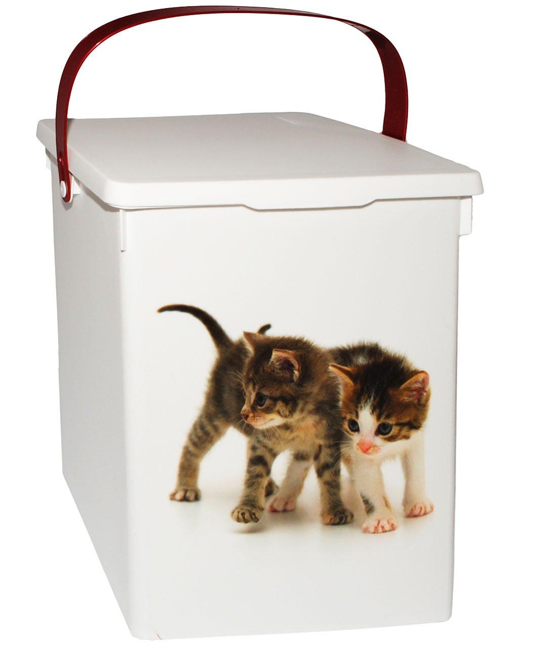 alles-meine.de GmbH Futterdose / Futterbox - Süße Katzen - für Tierfutter - Katzenfutter - 5 L..