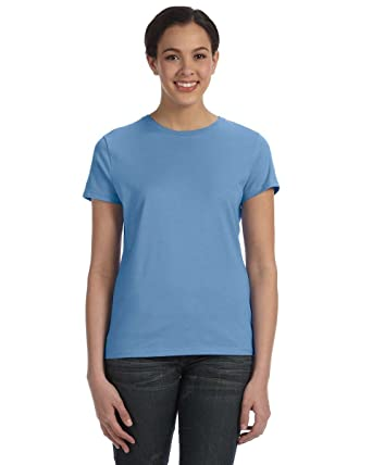 Ringspun T Shirt >> Hanes Sl04 Silver For Her Classic Fit Ringspun T Shirt At Amazon