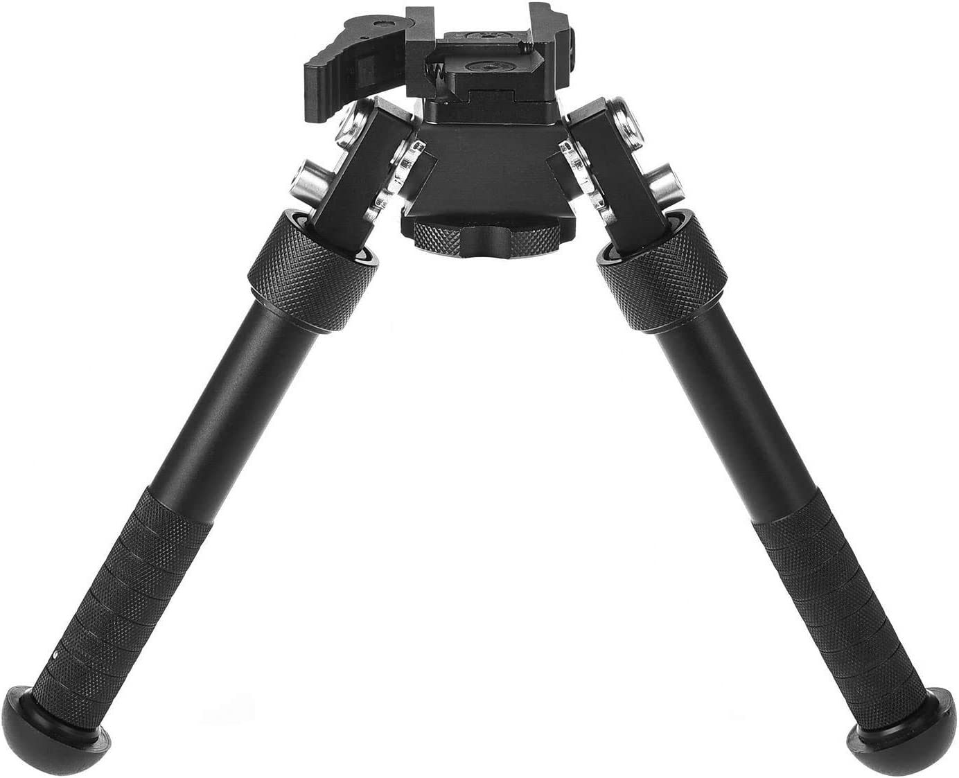 Bípode de Rifle Ajustable en Altura de 6-9 Pulgadas, Adecuado para Deslizamiento de 22 mm, rotación Ajustable de 360 Grados del bípode