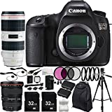 Canon EOS 5DS DSLR Camera with EF 17-40mm f/4L USM Lens & EF 70-200mm f/2.8L IS II USM Lens & 15PC Accessory Kit - Includes 3PC Filter Kit (UV-CPL-FLD) + MORE - International Version (No Warranty)