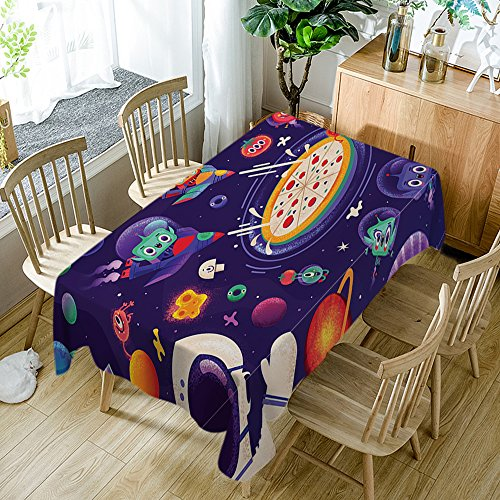 Mushroom Tablecloth Modern Decor Mellow Mushroom Pizza Bakers Crushers Polyester Fabric Table Cloths Dining Room Kitchen Rectangular Table Cover 60W X 84L Inches Multicolor