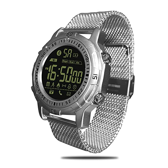 9a2a634fa7f Smart Watch, Zeblaze Vibe II Smart Bracelet with Stainless Steel Watchband,  Outdoor 5ATM Waterproof