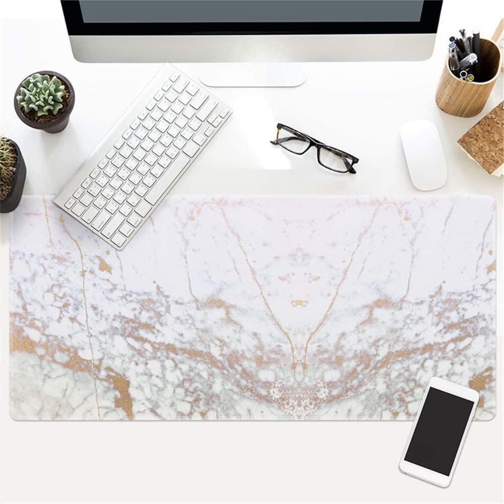 LL-COEUR XL Marble Gaming Mouse Pad Computer Keyboard Mat Office Desk Pad 22, 900 x 400 x 3 mm