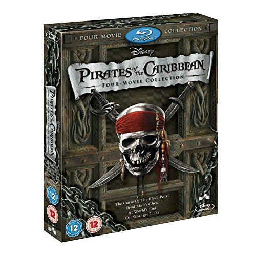 Pirates of the Caribbean 1 - 4 Movie Collection BLURAY COMPLETE Box Set 1 2 3 4