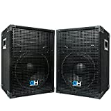 Grindhouse Speakers - GH12L-Pair - Pair of Passive 12 Inch 2-Way PA/DJ Loudspeaker Cabinets  - 700 Watt each  Full Range PA/DJ Band Live Sound Speaker