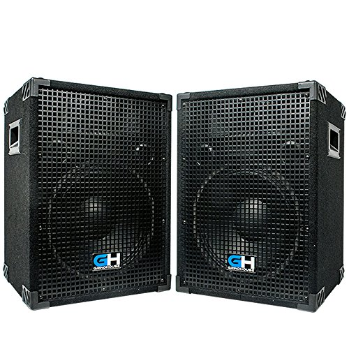 Grindhouse Speakers - GH12L-Pair - Pair of Passive 12 Inch 2-Way PA/DJ Loudspeaker Cabinets  - 700 Watt each  Full Range PA/DJ Band Live Sound Speaker by Grindhouse Speakers