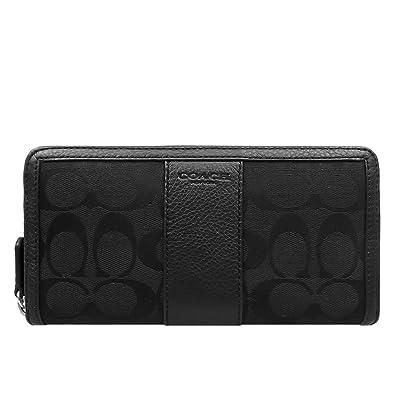 ca250f0bfb8d Amazon   [コーチ] COACH 財布 (長財布) F51770 ブラック×ブラック SBKBK ...