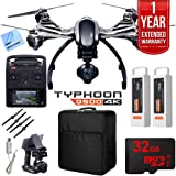 Yuneec Typhoon Q500 4K Quadcopter Drone UHD Ultimate Bundle Includes Travel Backpack, Two Batteries, 32GB Card, Microfiber Cloth, and 1 Year Warranty Extension