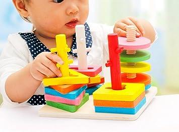 Happy cherry jouet en bois géométrie couleurs assortis abaque