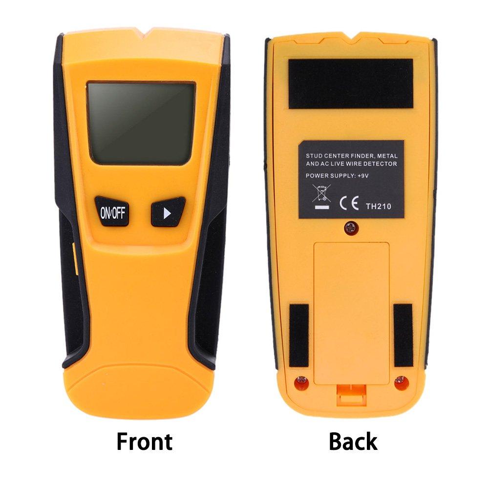 Buscadores de pernos eléctricos, detector de metal multiescaneador con pantalla LCD digital, detector de pared con sensor de enganche central y alerta de ...