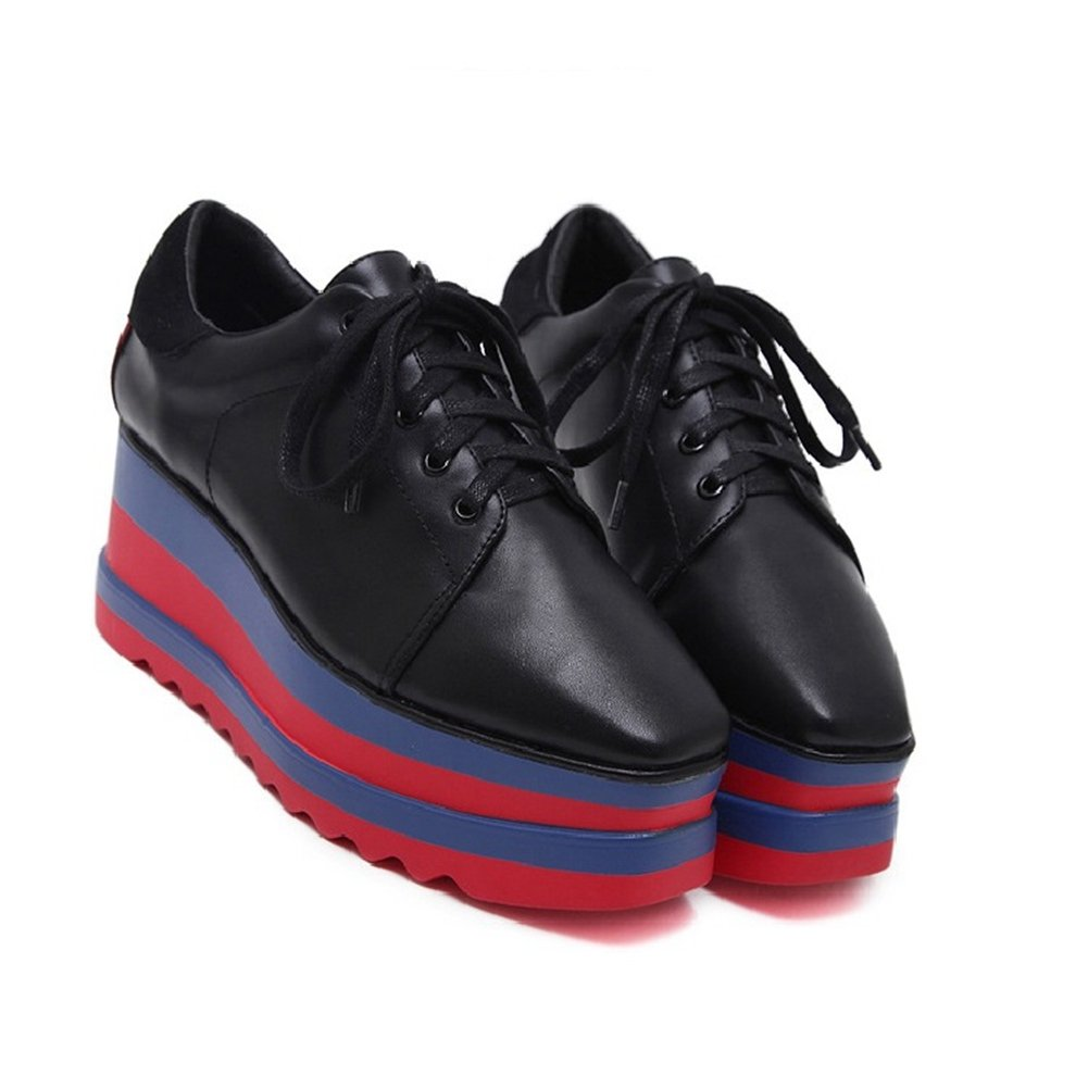 4272a5716b00e Amazon.com   CYBLING Fashion Casual Square Toe Mid Heel Thick Sole ...