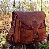 11 Inch Leather Womens Handbag Shoulder Bag Vintage Hand Made Tote Hobo Satchel Purse