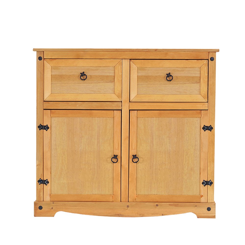 Pandamoto Pine Sideboard 2 Door 2 Drawer Furniture(MXG-3)
