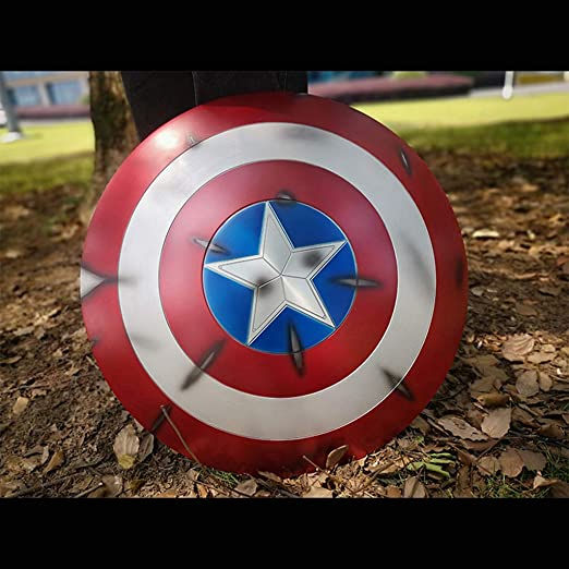 QWEASZER Marvel Avengers 1: 1 Capitán América Escudo Pintado ...