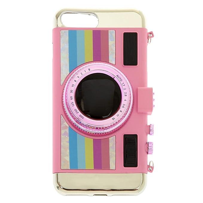 buy popular f48be 589f5 Claire's Girl's Pink Retro Camera Phone Case: Claire's: Amazon.ca ...