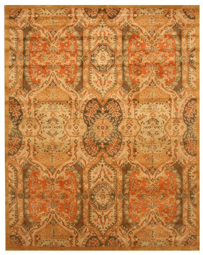 EORC T63GD Hand Tufted Wool Piazza Rug, 5-Feet by 8-Feet, Gold