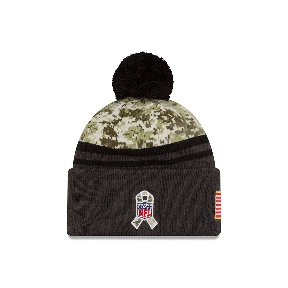 online retailer 553bc b991d Amazon.com   New Era 2016 Men s Salute to Service Knit Hat (One Size,  Cleveland Browns)   Clothing