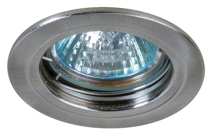Eurofase R036-S5 1-Light Halogen Mini-Pot DownLight, Satin Nickel ...