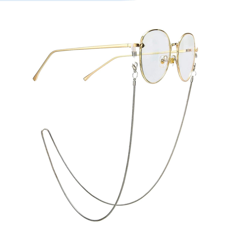 Rotgold und Silber Trixes 2er-Set elegante Brillenketten Nie mehr ach verlegten Brillen suchen Stilvolle Smart Fashion Statement Brillenb/änder und Sonnenbrillenb/änder