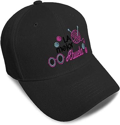 Speedy Pros Snapback Hats for Men /& Women La Mejor Abuela Yarn Eyeglass Embroidery Black
