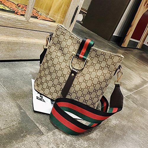Shoulder 915 Bag Coloured Printed Khaki Handbag Ribbon Fashion Backpack Multifunctional Canvas qOCZxn1Hw