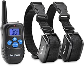 Petrainer PET998DRB Dog Training Collar Rechargeable and Rainproof 330yd Remote Dog Shock Collar with Beep, Vibration and Shock Electronic Collar