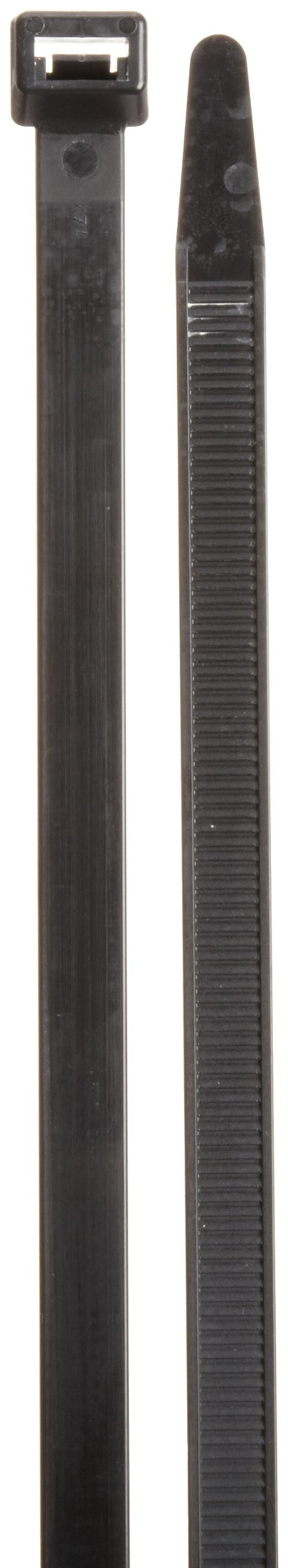 Morris Products Ultraviolet Black Nylon Cable Ties - 40 Inch Length -Heavy Duty, 250-Pound Tensile Strength - 12.48 Max Bundle Diameter - Cable Organization - UV Safe, UL Approved - Pack of 100