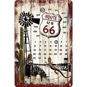 Ruta 66 Desert Cartel de chapa civil 20 x 30 cm
