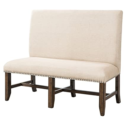 Picket House Furnishings Francis Upholstered Dining Bench In Natural