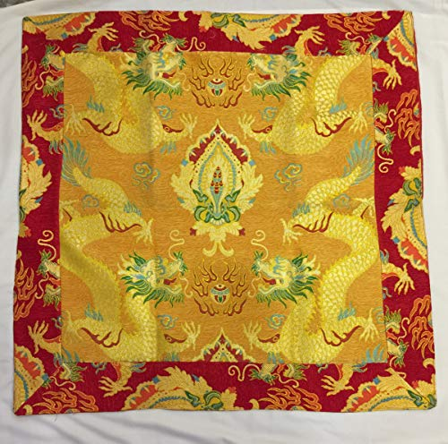 Tibetan Buddhist Dragon Silk Brocade Thick Table Cloth/Altar Cloth/Shrine Cover/Large Size]()