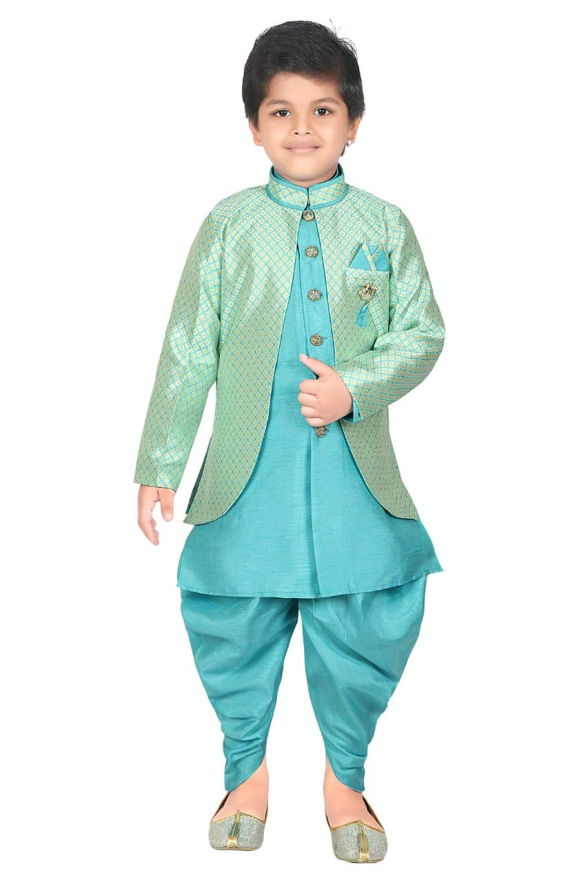 ahhaaaa Kids Ethnic wear Waistcoat, Indo Western Sherwani and Dhoti Pant for Boys_LSKY425-6