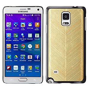 Be Good Phone Accessory // Dura Cáscara cubierta Protectora Caso Carcasa Funda de Protección para Samsung Galaxy Note 4 SM-N910 // chevron gold leaf pattern wallpaper