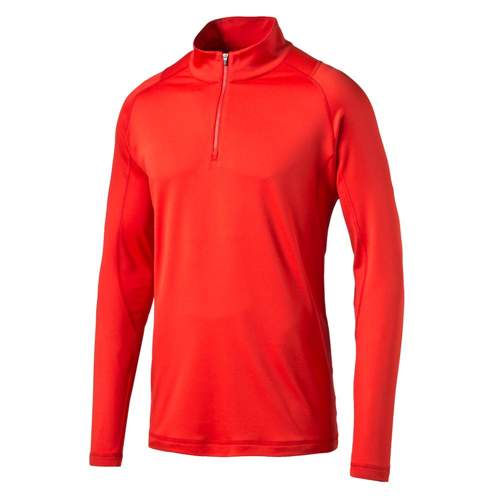 Puma Golf Men's Crest Tech 1/4 Zip Popover Jacket, High Risk Red, Large by PUMA