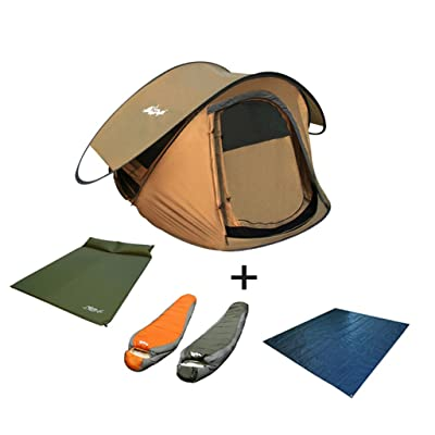 2 Secondes Pour Ouvrir Entièrement Tente Automatique 3 Personnes Double Couche En Plein Air Camping Camping Set Ombre Plage