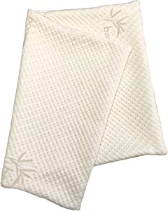 Snuggle-Pedic Zipper Removable Pillow Cover Kool-Flow Luxurious Bamboo Material - All USA Made (Standard Size)