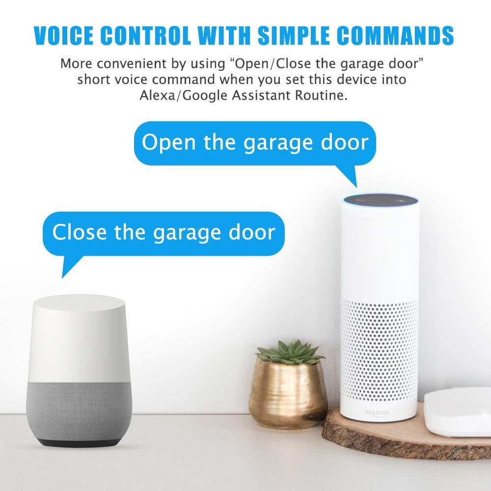 ferngesteuerten /Öffnen und Schlie/ßen des Garagentors von /überall kompatibel zu den meisten Garagentormarken Smarte Wlan Garagentor/öffner Kompatibel mit Alexa//Google Home//IFTTT//SONOFF//Ewelink APP