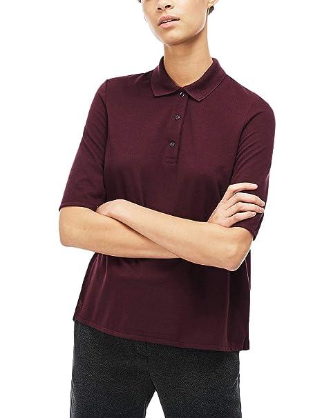 a8da3bf49e Lacoste Women's Short Sleeve Polo Shirt Purple in Size EU 40 / L at ...