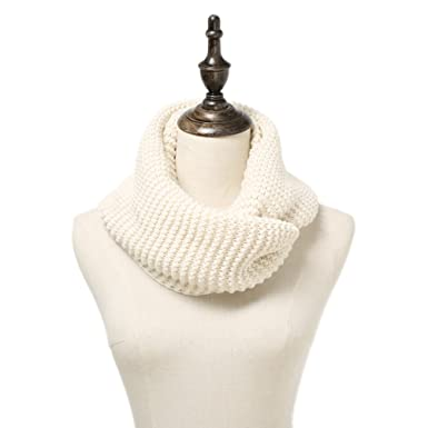 53446edcbb Fantasylinen Women Winter Knit Infinity Scarf Fashion Circle Loop ...