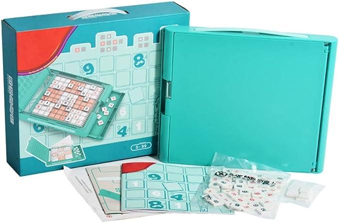 EXCLVEA Madera Rompecabezas del número Juegos de Mesa Número de Juguete Rompecabezas Sudoku Puzzle Juego de Mesa Infantil Entrada Formación del niño Juego de Mesa Juguetes: Amazon.es: Hogar