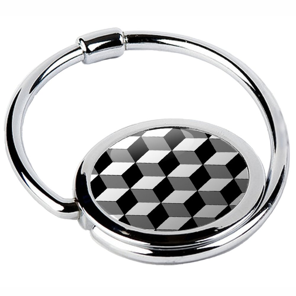Miss Kha - Accroche Sac Pliable Cubes Noirs & Blancs, Noir, Blanc, Taille unique CIRCLE-39