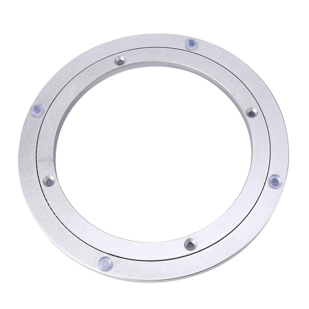 8 pulgadas 1 Pc de Tabla Rodamiento Placa Giratoria de Aleaci/ón de Aluminio Duradero de Bricolaje