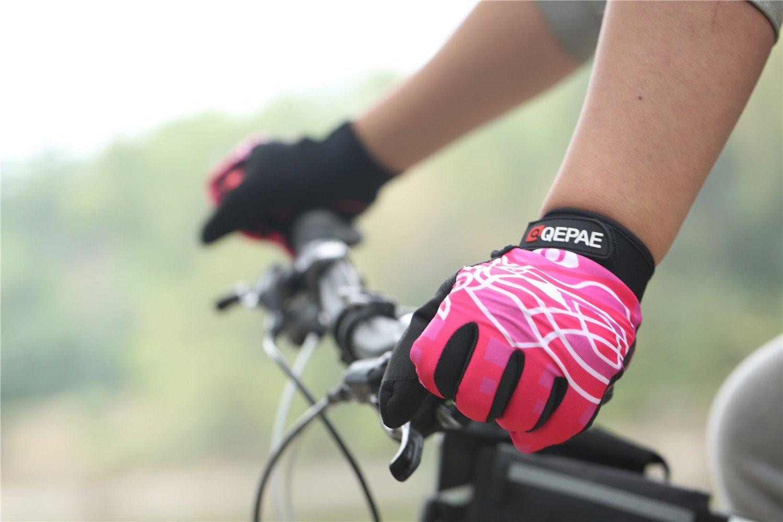 Lerway Guantes Gimnasio Deportivos Ciclismo Gloves Completo Dedos para Bicicleta Bici Moto Unisex Protección las Palmas (Rosa, XL): Amazon.es: Coche y moto