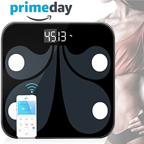 Báscula digital de peso, báscula de baño con amplia plataforma de vidrio templado para el