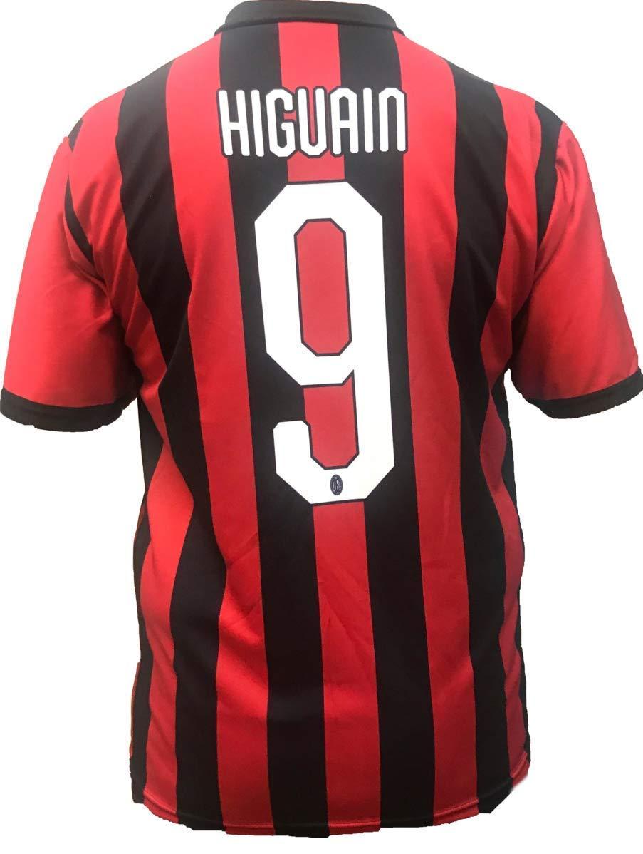 Camiseta AC Milan Milan Gonzalo HIGUAIN Number 9 réplica Oficial Oficial 2018-2019 Producto (Tallas 2 4 6 8 10 12 AÑOS) Adulto (S M L XL): Amazon.es: ...