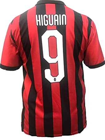 AC Milan MILAN jersey GONZALO HIGUAIN NUMBER 9 replica official 2018-2019  official product (sizes 2 4 6 8 10 12 YEARS) adult (S M L XL)   Amazon.co.uk  ... 5557eb267e4f9