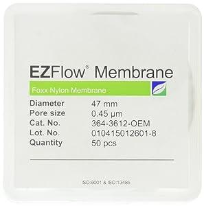 Foxx Life Sciences 364-3612-OEM EZFlow Membrane Disc Filter, Nylon, 47 mm Diameter.45 µm Pore Size (Pack of 50)