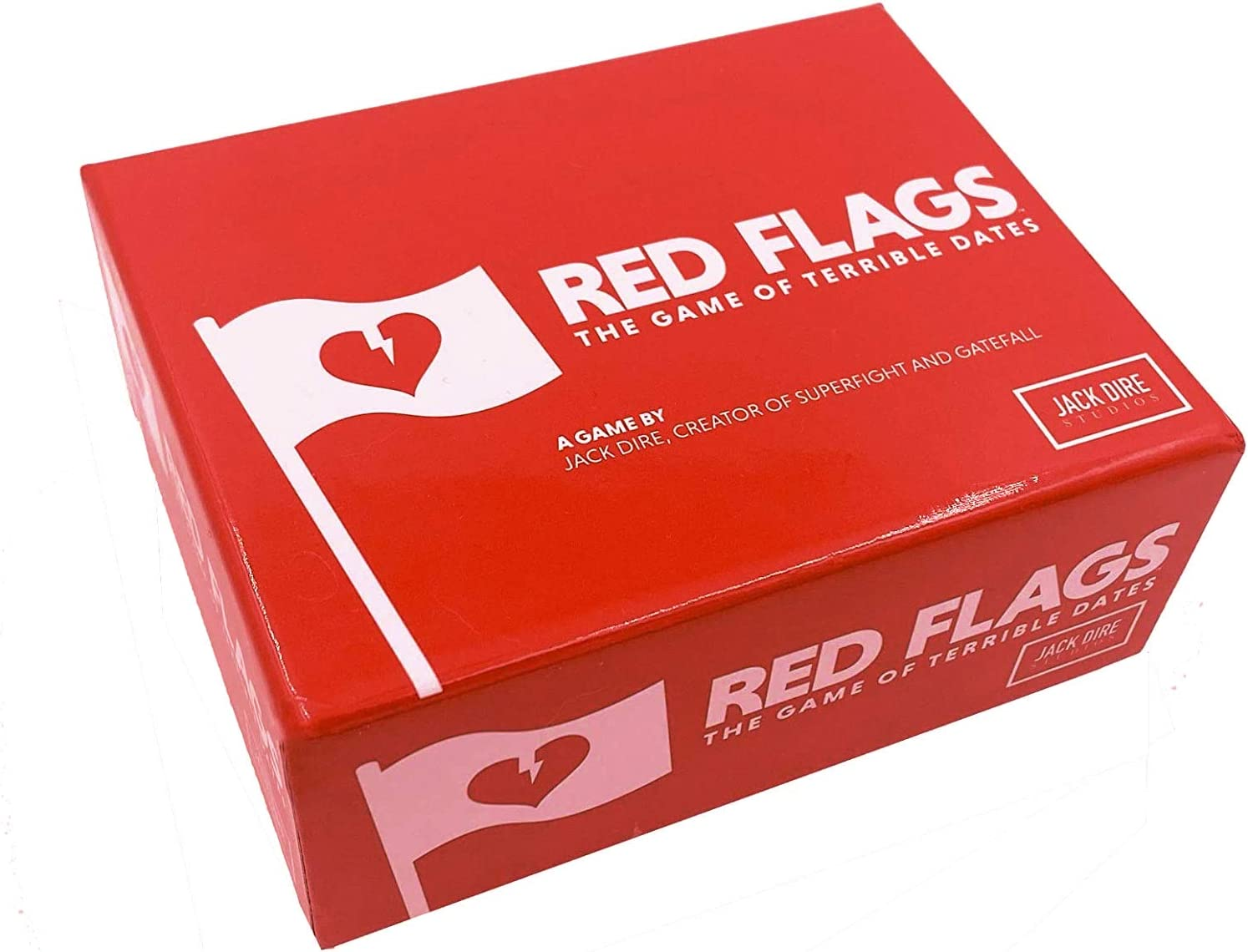 Red Flags: The Game of Terrible Dates   Funny Card Game / Party Game for Adults, 3-10 Players   by Jack Dire, Creator of Superfight