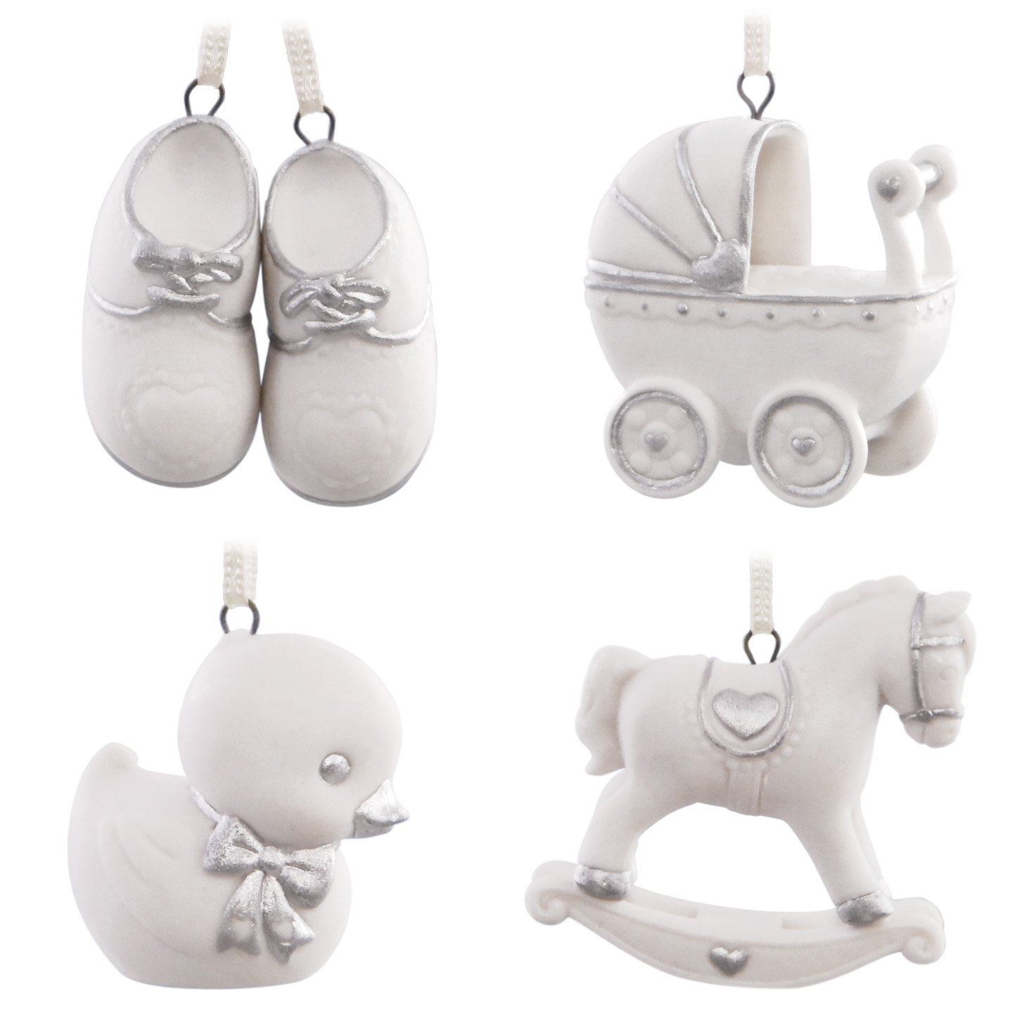 Baby Mini Porcelain Christmas Ornaments